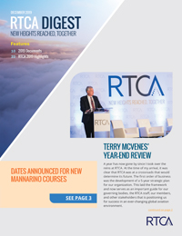 Photo of RTCA Digest – December 2019